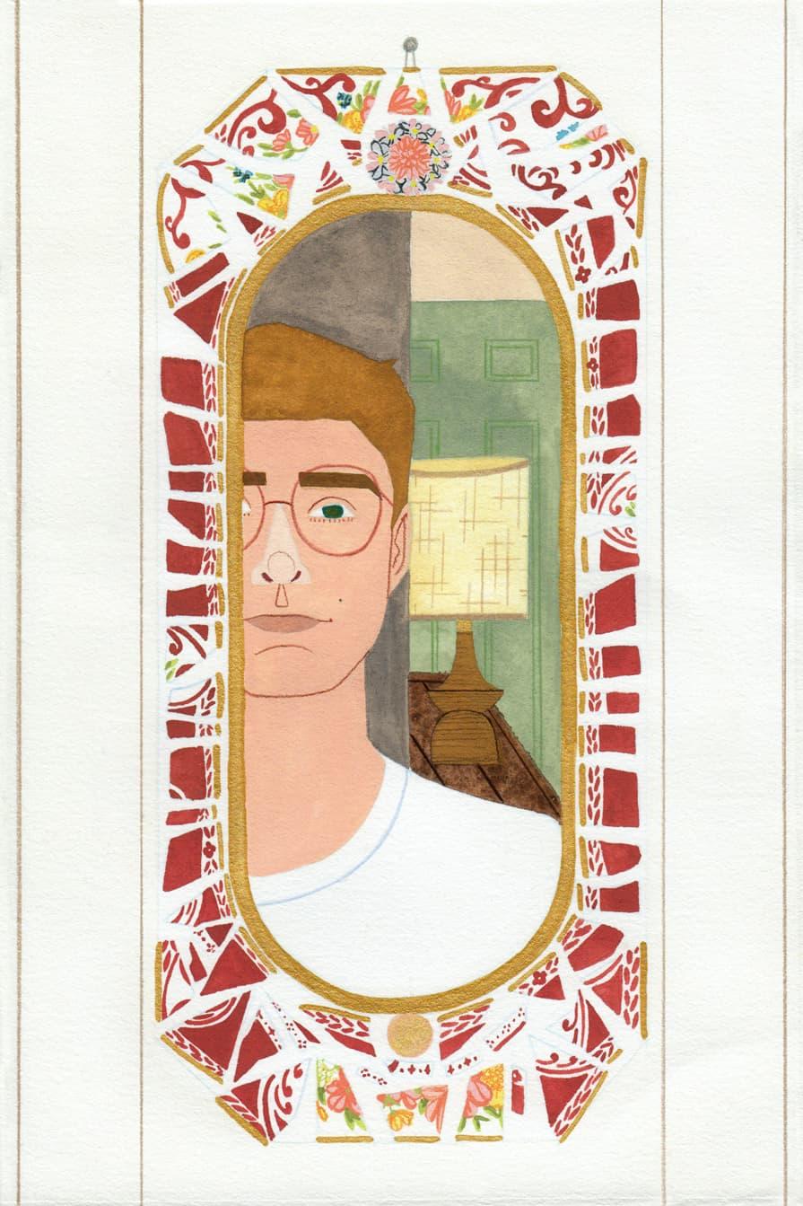 Self Portrait in Desert Mirror