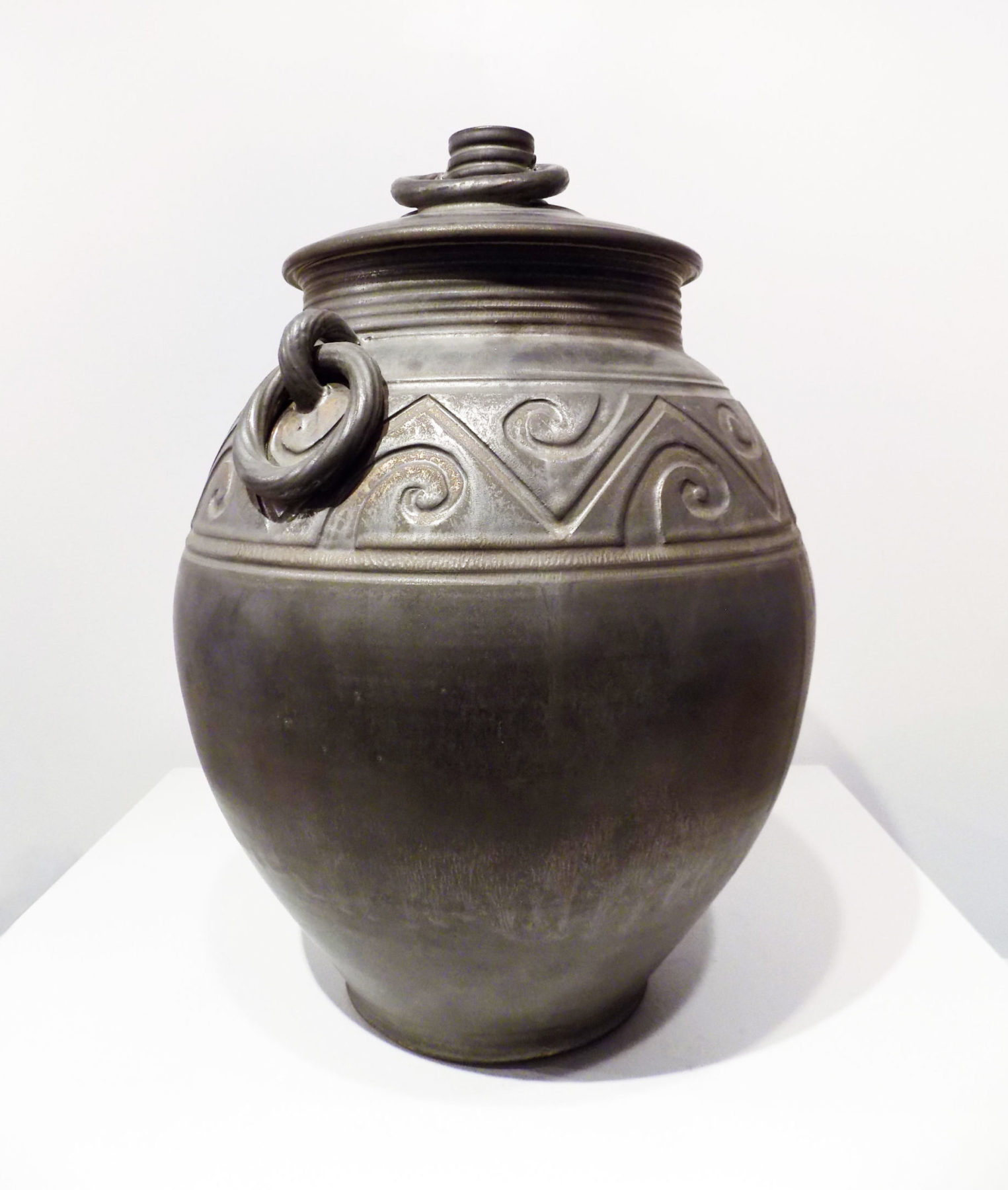Bronze Lidded Urn